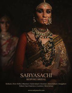 sabyasachi. indian bridal jewelry, indian bride