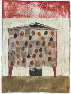 In The House 7 by Scott Bergey on Etsy Original Artwork, Original Paintings, House Quilts, Japanese Prints, Canadian Artists, Mixed Media Collage, Crafty Craft, Landscape Art, Home Art