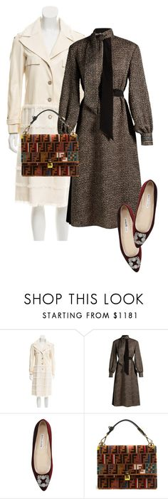 """dress"" by masayuki4499 ❤ liked on Polyvore featuring Chanel, Fendi and Manolo Blahnik"