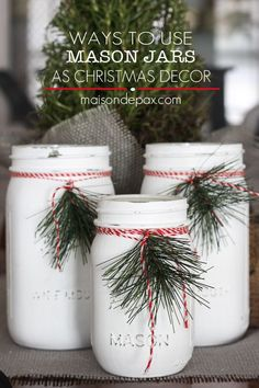 {Craft Fair} Painted Mason Jars and Weathered Wood Boxes                                                                                                                                                                                 More