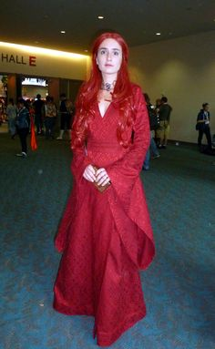 Melisandre   She's got the stare down.  Friday at Comic-Con 2013.