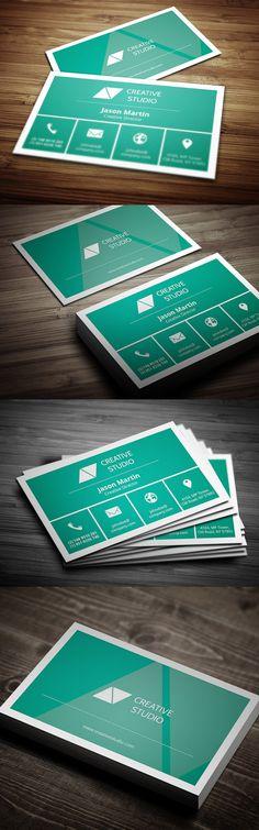 Metro Business Card by Bouncy Studio, via Behance