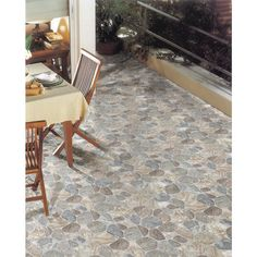 Shop FLOORS 2000 5-Pack Teras Grey Glazed Porcelain Indoor/Outdoor Floor Tile (Common: 18-in x 18-in; Actual: 17.75-in x 17.75-in) at Lowes.com $3.99 per square ft