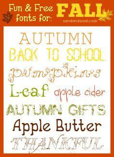 fun and free fall fonts