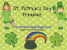 Kreative in Kinder: St. Patrick's Day Blog Hunt FREEBIE!