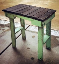 Pallet Side Table Recycled Wood by RustyPerkWoodnStuff on Etsy, $45.00