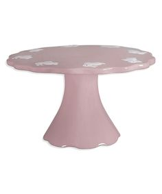 Pink Spring Bunny 10'' Ceramic Cake Stand