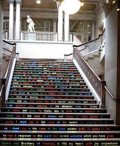 Cool stairs at the Chicago Art Institute