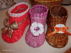 Мастер-класс Поделка изделие Плетение МК башмачок Бумага газетная Трубочки бумажные фото 26