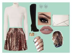 """""""indie outfit #16"""" by klarkeyk on Polyvore featuring Boohoo, A.L.C., Dune, Panacea, Lime Crime and Kendall + Kylie"""