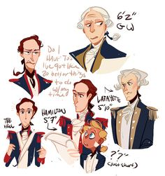 Hamilton practice doodles were I never really capture his likeness… so hard to draw….