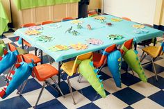 A Dino-Mite 2nd Birthday Party! on http://pizzazzerie.com - make stuffed tails as the party favor. How hard can it be?