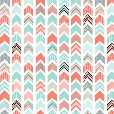Chevron Arrow Pointer - Coral, Blue, Black fabric by ebygomm on Spoonflower - custom fabric Wallpaper Iphone Cute, Cute Wallpapers, Wallpaper Backgrounds, Chevron Azul, Chevron Patterns, Washi, Minky Fabric, Nursery Fabric, Backgrounds