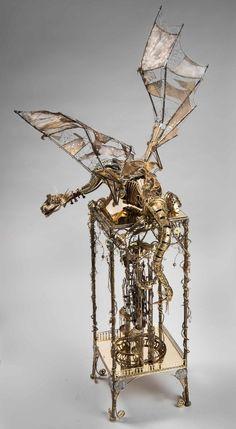 steampunktendencies:  A Master Piece!The Clock Dragon byAleksandr Mushkin From the same artist: The Dragon|Hippopotamus-Safe