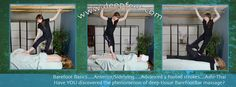 Banner with Ashiatsu Oriental Bar Therapy (Deepfeet Bar Therapy). Posterior legs, Anterior legs, Ashi-Thai.