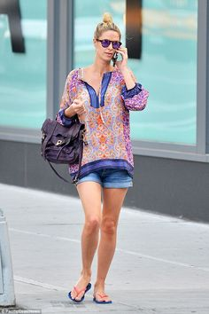Upgrade your accessories with a purple satchel like Nicky's.  Click 'Visit' to buy now. #DailyMail