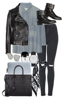"""""""Untitled #7215"""" by nikka-phillips ❤ liked on Polyvore featuring Topshop, rag & bone, Acne Studios, Coach, Yves Saint Laurent, Marc by Marc Jacobs, Marc Jacobs, Rockins and GANT"""