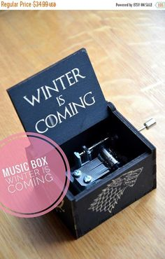 Custom Game of Thrones Music Box Wooden Gift For Him Musical Box Game of Thrones Gift Husband Anniversary Boyfriend Son Brother Granfather