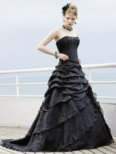 Robe mariee gothique