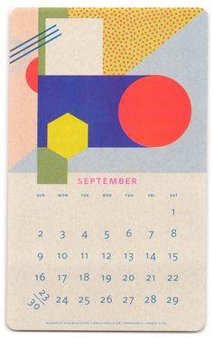 Paper Pusher Isometric Risograph Calendar - September
