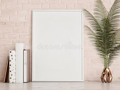 Illustration about Mock up frame on rose brick wall, rendering. Illustration of home, design, picture - 75267294 Frame Wall Collage, Background Design Vector, Frame Template, Templates, White Aesthetic, Photo Canvas, Brick Wall, Cute Wallpapers, Mockup