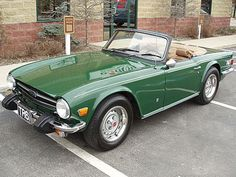 Triumph TR-6 in classic British Racng Green.