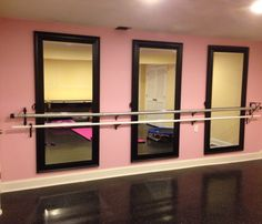 Glassless Mirrors On Rolling Stands Also Known As Portable Dance