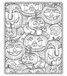 600 Top Free Printable Halloween Coloring Pages For Adults Only , Free HD Download