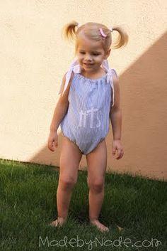 bathing suit tutorial for Ellie