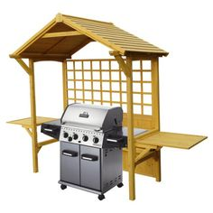 Shop Leisure Season Seated Party Arbor Barbecue Shelter at Lowe's Canada. Find our selection of arbors at the lowest price guaranteed with price match. Outdoor Storage Sheds, Shed Storage, Arbour Seat, Arbor Bench, Grill Canopy, Grill Gazebo, Gazebo Pergola, Gazebo Ideas, Pergola Plans