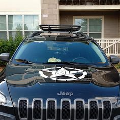 Jeep Cherokee Hood decal I can customize this decal Jeep Trailhawk, Cherokee Trailhawk, Easter Eggs In Movies, American Flag Decal, Dodge Journey, Jeep 4x4, Jeep Cherokee, Window Decals, Marketing And Advertising