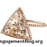 triangle rose gold diamond engagement ring - My Engagement Ring
