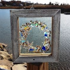 Sea Glass Wreath by beachcreation on Etsy, $90.00