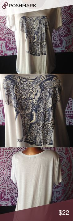 Elephant tee True to size tee   top Material: 100% rayon  ❌NO HOLDS ❌NO TRADES ❌NO TRY ONS ✅Prices are firm unless bundled Tops Tees - Short Sleeve