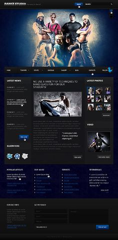 Best Dance Website Templates Images On Pinterest Dance Studio - How to create a website template