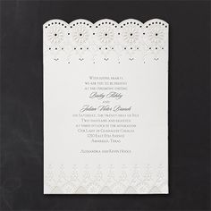 Pearl Lace Invitation - Wedding Invitations - Wedding Invites - Wedding Invitation Ideas - View a Proof Online - Wedding Invitation Trends, Discount Wedding Invitations, Anniversary Invitations, Lace Wedding Invitations, Elegant Invitations, Wedding Stationary, Bridal Shower Invitations, Invitation Ideas, Pearl And Lace