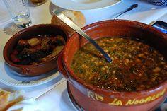Cocida montañes - the local mountain stew
