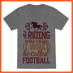 If Riding Was Easy It Would Be Called Football Heathered Gray 2X Mens/Unisex V-Neck Triblend Tee by LookHUMAN - Sports shirts (*Partner-Link)