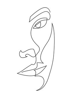 relief one line art Mini Art Print by addillum Without Stand 3 x 4 Line Art Design, Art And Illustration, Art Abstrait Ligne, Art Sketches, Art Drawings, Abstract Drawings, Face Line Drawing, Art Du Croquis, Abstract Face Art