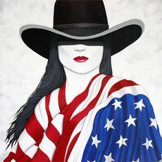 """AMERICAN GIRL"" PAINTING BY LANCE HEADLEE"