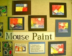 Fine Lines: Connection to Literacy - adorable Mouse Paint activity with grade one. Kindergarten Colors, Kindergarten Art Projects, Preschool Colors, Preschool Crafts, Preschool Literacy, Preschool Worksheets, Kindergarten Activities, Kids Crafts, Mouse Paint Activities