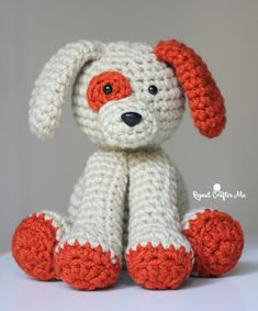 Crochet Plush Puppy - Repeat Crafter Me
