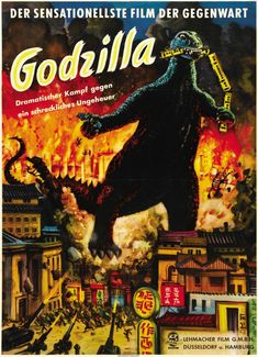These Rarely-Seen Godzilla Posters Show You A New Face Of The Monster | German poster for Godzilla, 1954