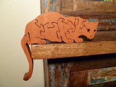Scroll Saw Wooden Mountain Lion Puzzle Wood by WoodAnimals on Etsy, $20.00