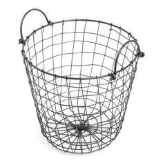 Iron Basket Black with Iron Handles