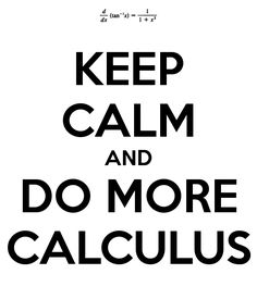 Calculus makes me happy :)