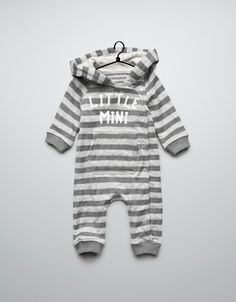 striped and printed romper suit - Collection - Mini (0-9 months) - Kids - ZARA Portugal