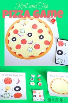 You kids will have so much fun playing this fun and educational roll and top pizza game. It's also a great early learning game to help with number recognition and counting.