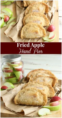southern recipes These Southern Fried Apple Hand Pies are easy to make using either homemade or store bought pie crust or biscuit dough. Make them the day before and fry them up fresh in the morning for a wonderful treat! Apple Hand Pies, Fried Apple Pies, Fried Apples, Apple Pie Recipes, Tart Recipes, Cooking Recipes, Easy Fried Apple Pie Recipe, Pie Crust Recipes, Homemade Pie Crusts