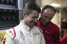 Qualirennen Nürburgring: Spass mit Marco Werner / Qualification race Nürburgring: Sharing a joke with Marco Werner